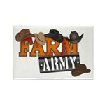 Farm Army Rectangle Magnet