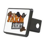 Farm Army Rectangular Hitch Cover