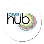 Charity Hub Round Car Magnet