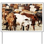 A Herd of Cattle Yard Sign