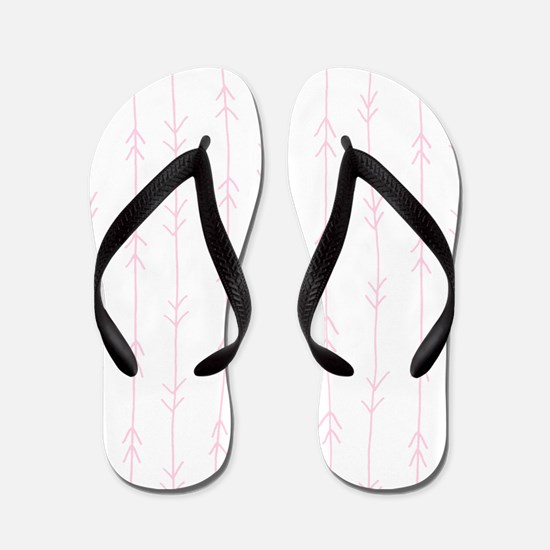 Pink, Baby: Arrows Pattern Flip Flops