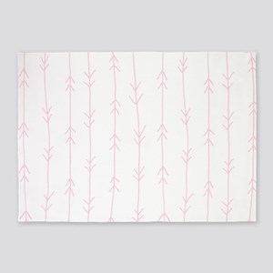 Pink, Baby: Arrows Pattern 5'x7'Area Rug
