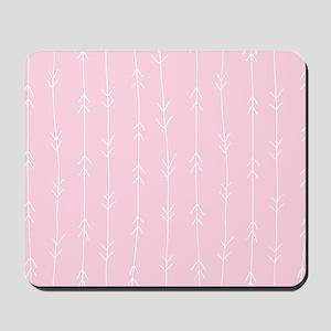 Pink, Baby: Arrows Pattern Mousepad