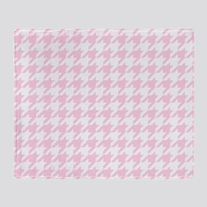 Pink, Baby: Houndstooth Checkered Pa Throw Blanket