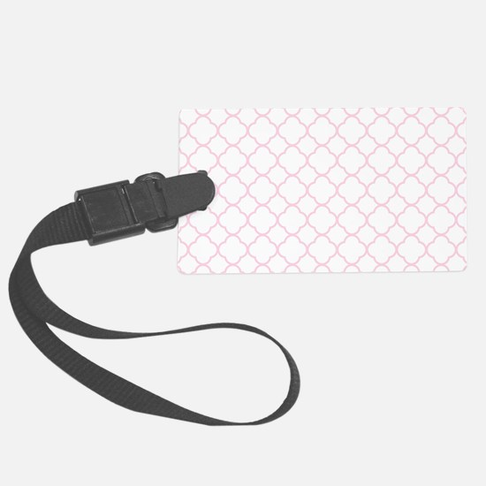 Pink, Baby: Quatrefoil Clover Pa Luggage Tag
