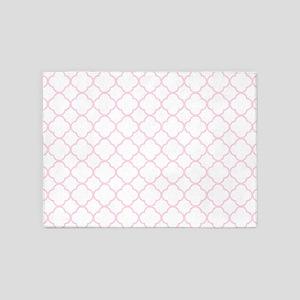Pink, Baby: Quatrefoil Clover Patte 5'x7'Area Rug