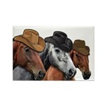Cowboy Horses Rectangle Magnet (100 pack)
