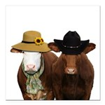 Country Couple Square Car Magnet 3