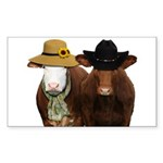 Country Couple Sticker (Rectangle)
