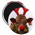Christmas Cow Magnet