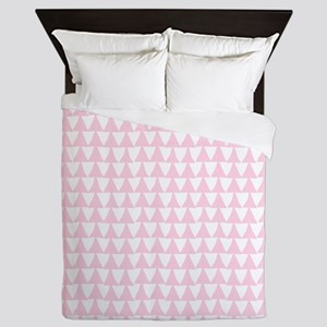 Pink, Baby: Triangle Arrows Pattern Queen Duvet