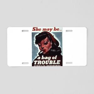 Vintage poster - STDs Aluminum License Plate