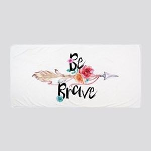 Be Brave Floral Arrow Beach Towel