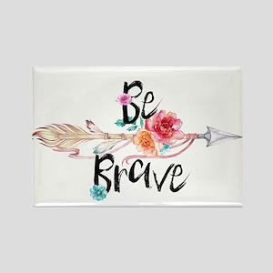 Be Brave Floral Arrow Magnets