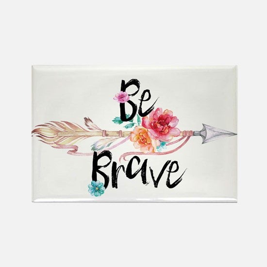 Be Brave Floral Arrow Magnets