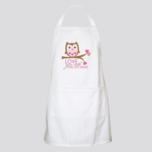 Love You With OWL My Heart Apron
