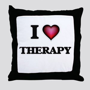 I love Therapy Throw Pillow