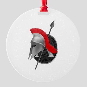 Spartan Round Ornament