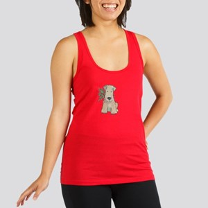 Wheaten Terrier with Holly Racerback Tank Top