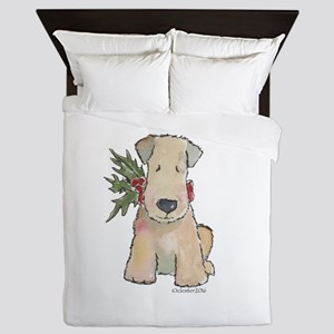 Wheaten Terrier with Holly Queen Duvet
