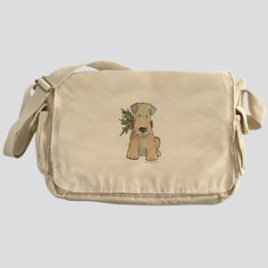 Wheaten Terrier with Holly Messenger Bag