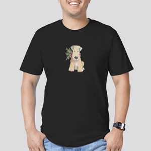Wheaten Terrier with H Men's Fitted T-Shirt (dark)