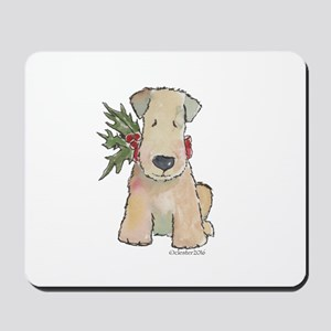 Wheaten Terrier with Holly Mousepad