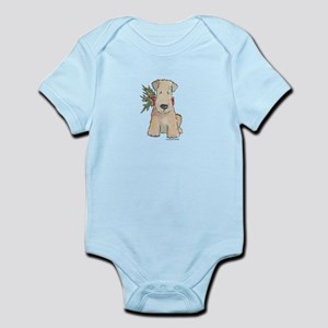 Wheaten Terrier with Holly Infant Bodysuit