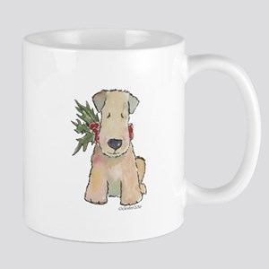 Wheaten Terrier with Holly Mug