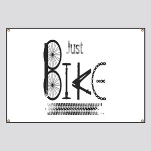 Just Bike Motivational Quote made from bicy Banner