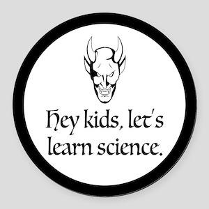The Devil Promotes Science Round Car Magnet