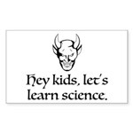The Devil Promotes Scien Sticker (Rectangle 10 pk)