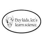 The Devil Promotes Science Sticker (Oval)