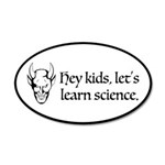 The Devil Promotes Science 20x12 Oval Wall Decal