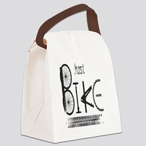 Just Bike Motivational Quote made Canvas Lunch Bag