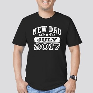 New Dad July 2017 Men's Fitted T-Shirt (dark)