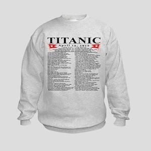 TG5StatsFrontBlackTrans-e Sweatshirt