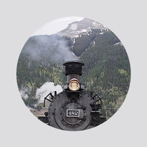 Steam train engine, Silverton, Colo Round Ornament