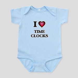 I love Time Clocks Body Suit