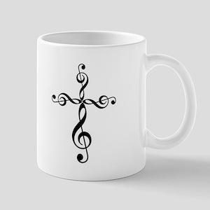 Treble Clef Cross Mugs
