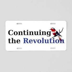 Continuing the Revolution Aluminum License Plate