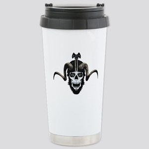 Ram skull biker Stainless Steel Travel Mug