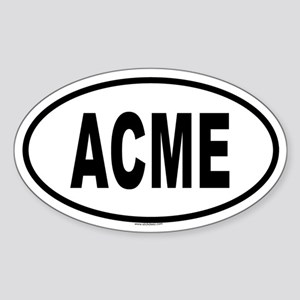 ACME Oval Sticker