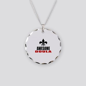 Awesome Doula Necklace Circle Charm