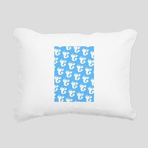 Blue Lobster 4Victor Rectangular Canvas Pillow