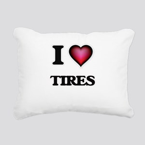 I love Tires Rectangular Canvas Pillow
