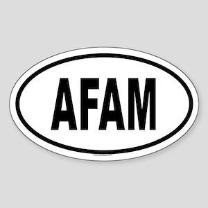 AFAM Oval Sticker