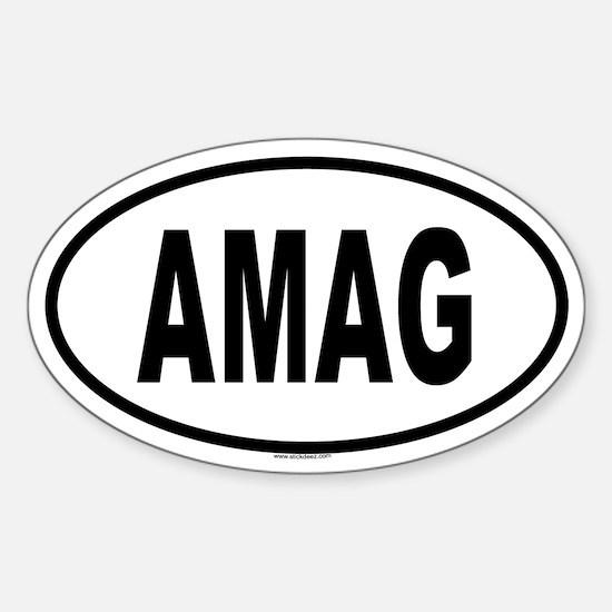 AMAG Oval Decal