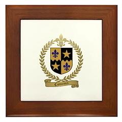 COMEAUX Family Crest Framed Tile
