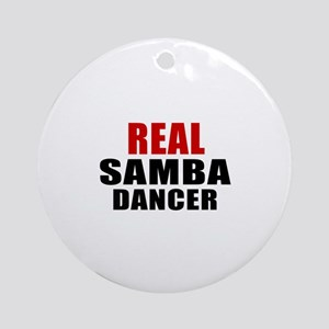 Real Samba Dancer Round Ornament